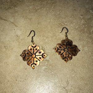 Beautiful vintage copper earrings